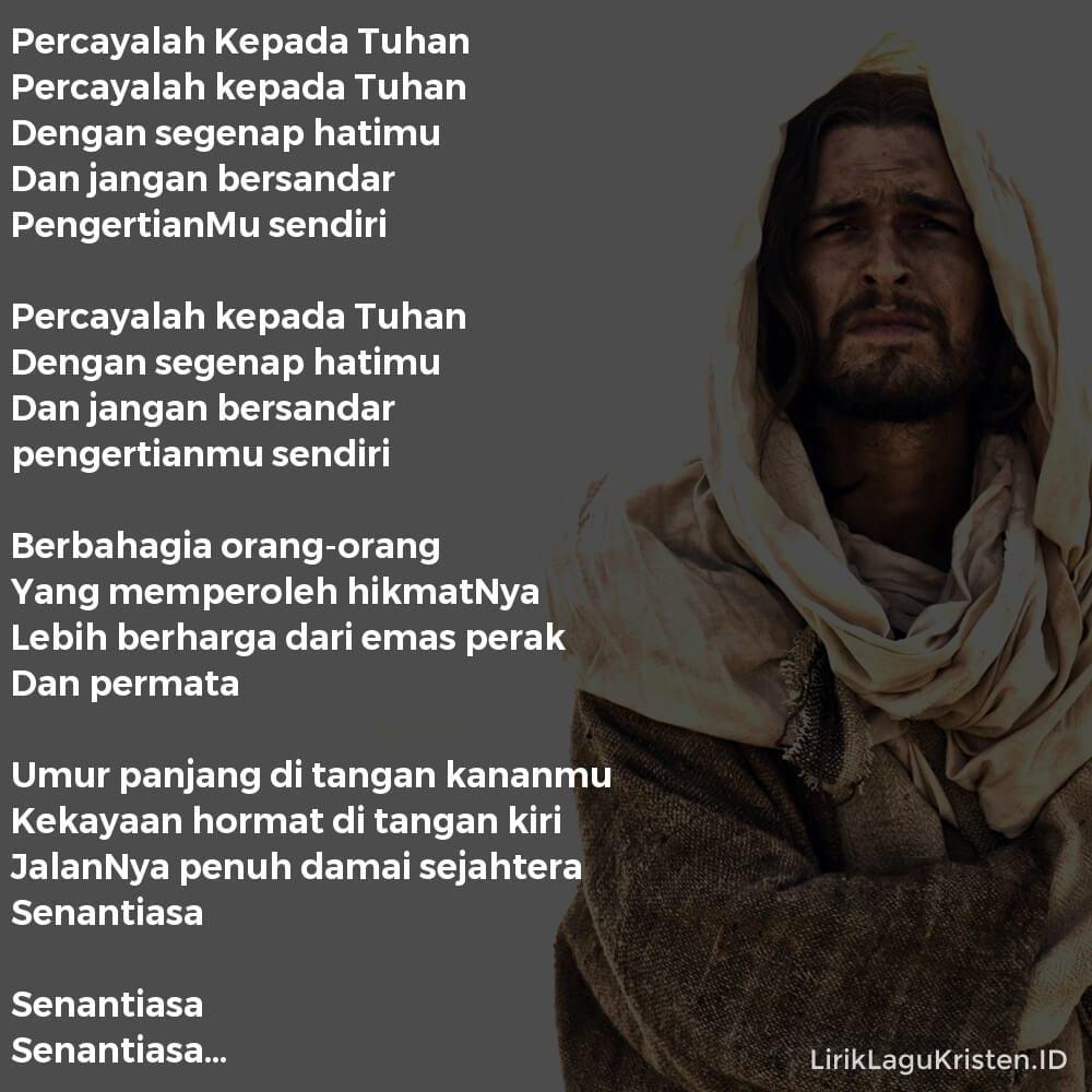 Percayalah Kepada Tuhan