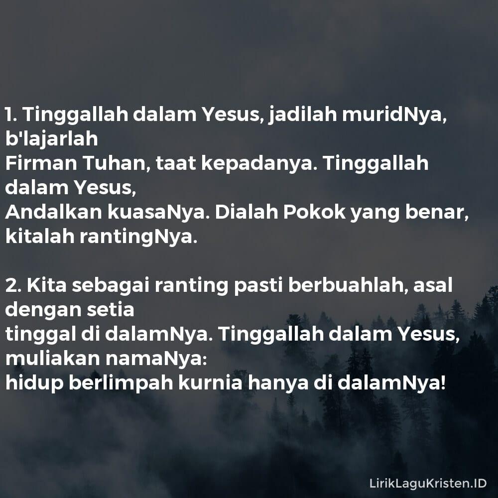 Tinggallah Dalam Yesus